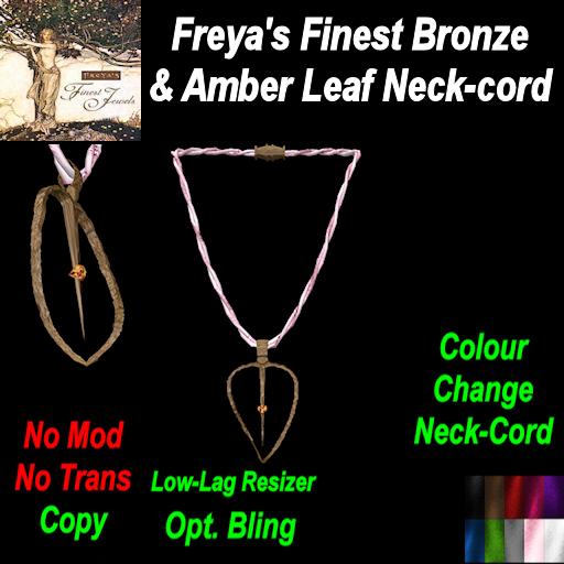 Freya's Finest Bronze & Amber Leaf Neck-cord