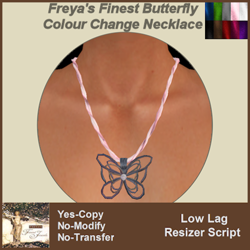 Freya's Finest Butterfly Colour Change Necklace TEX