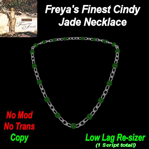 Freya's Finest Cindy Jade Necklace TEX