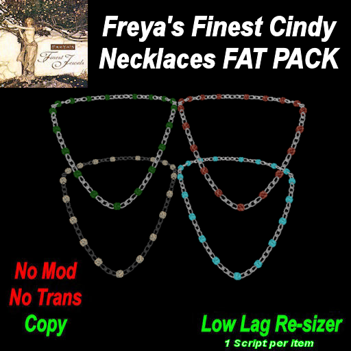 Freya's Finest Cindy Necklaces (FAT PACK) TEX