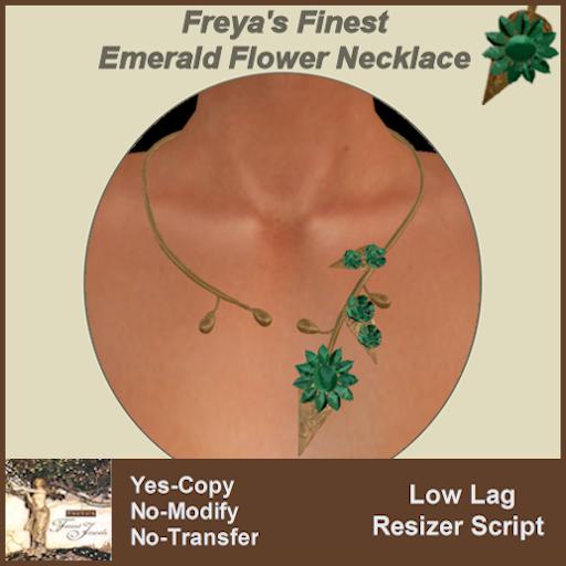 Freya's Finest Emerald Daisy Choker TEX