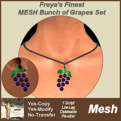 Freya's Finest MESH Bunch of Grapes Set