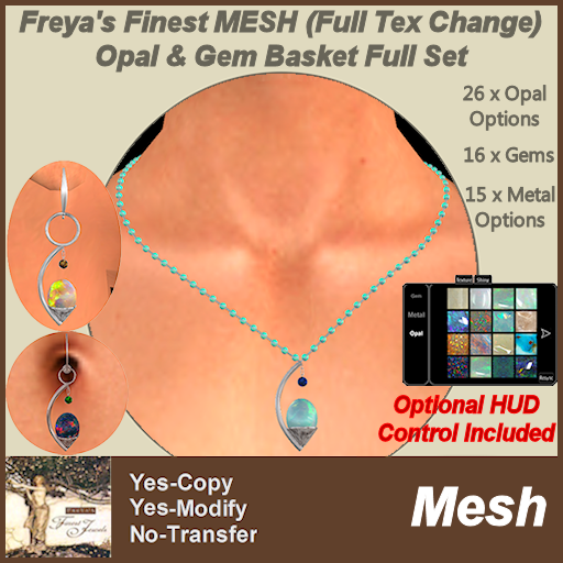 Freya's Finest MESH (FTC) Opal & Gem Basket Full Set TEX