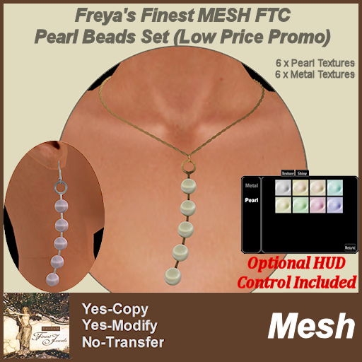Freya's Finest MESH FTC Pearl Beads Set Low Price PROMO