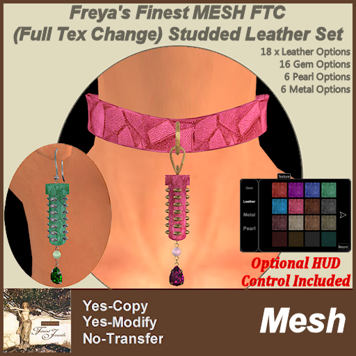 Freya's Finest MESH FTC Studded Leather Set TEX