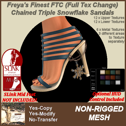 Freya's Finest MESH SLink MID Triple Snowflake Shoes TEX b