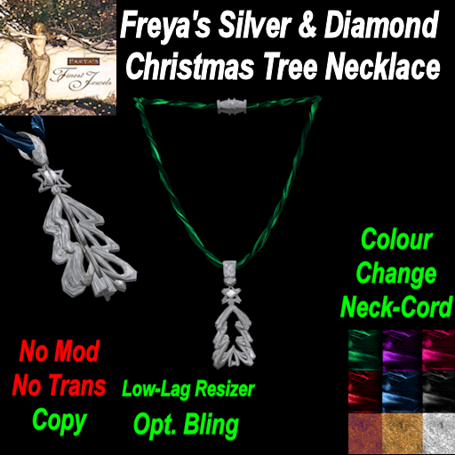 Freya's Finest Silver Christmas Tree Neckcord (C) TEX