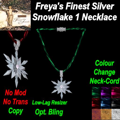 Freya's Silver Snowflake Neckcord (C) TEX