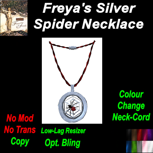 Freya's FInest Silver Spider Colour Change Leather Cord (C) TEX