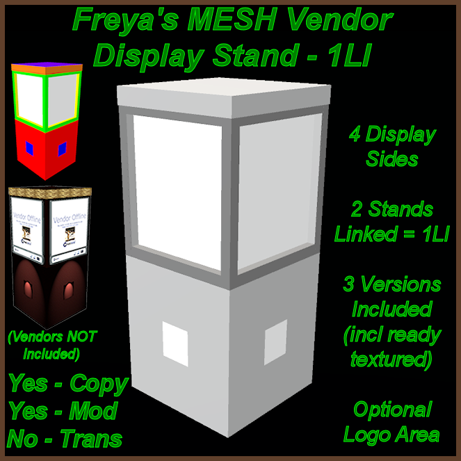 Freya's Square Vendors Display Stand MC