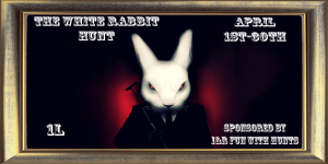 The White Rabbit Hunt Sign